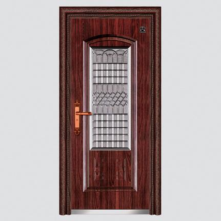 Puertas acorazadas de madera de acero del estilo rky de for Estilos de puertas de madera