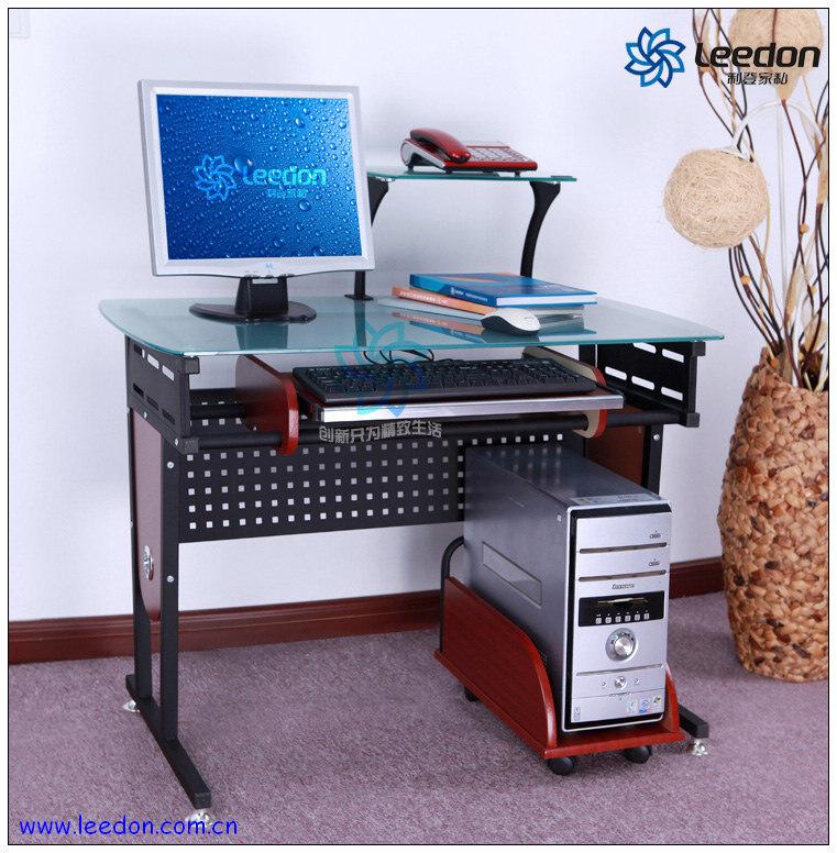 Tableau d 39 ordinateur de bureau bureau en verre c 49 tableau d 39 ordi - Table ordinateur verre ...