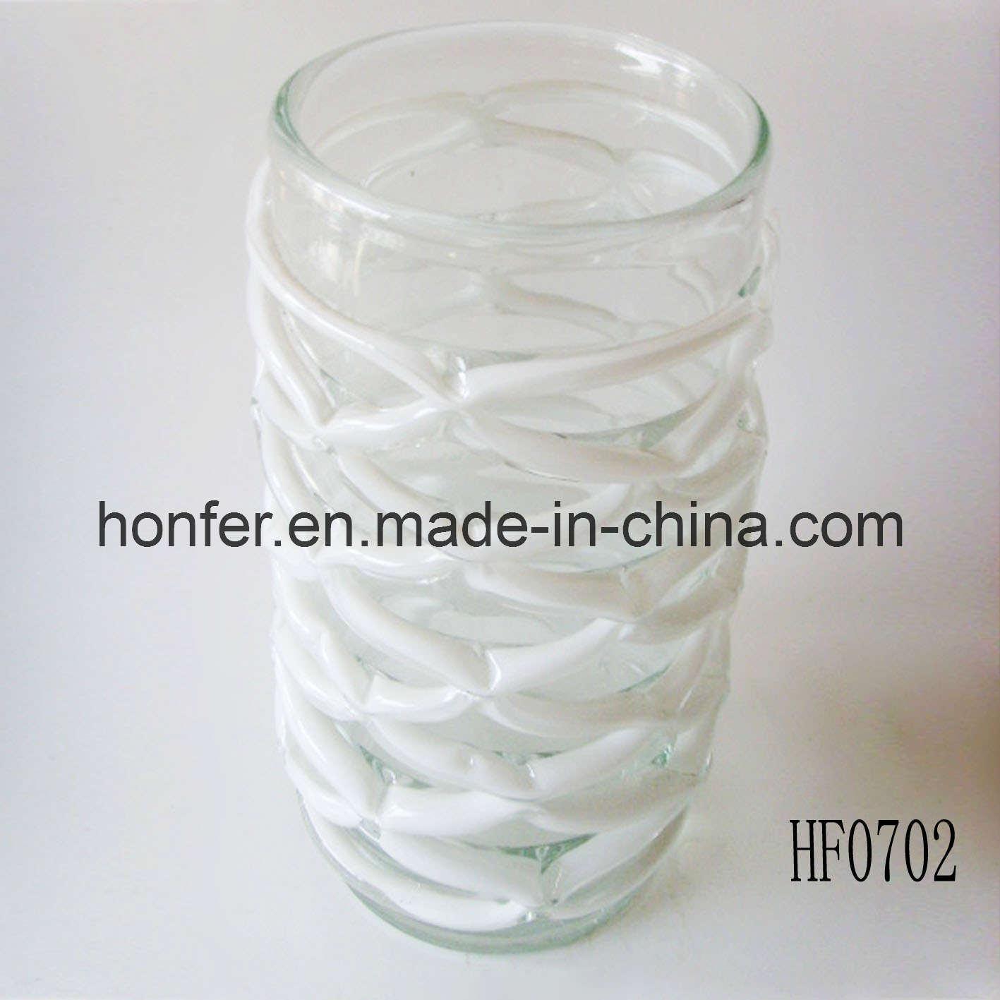 Vase en verre rond blanc hf0702 vase en verre rond blanc hf0702 fournis par qingdao honfer - Vase rond en verre ...