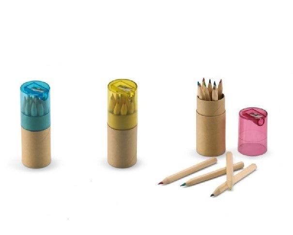 Mini natural colored pencils con sharpener