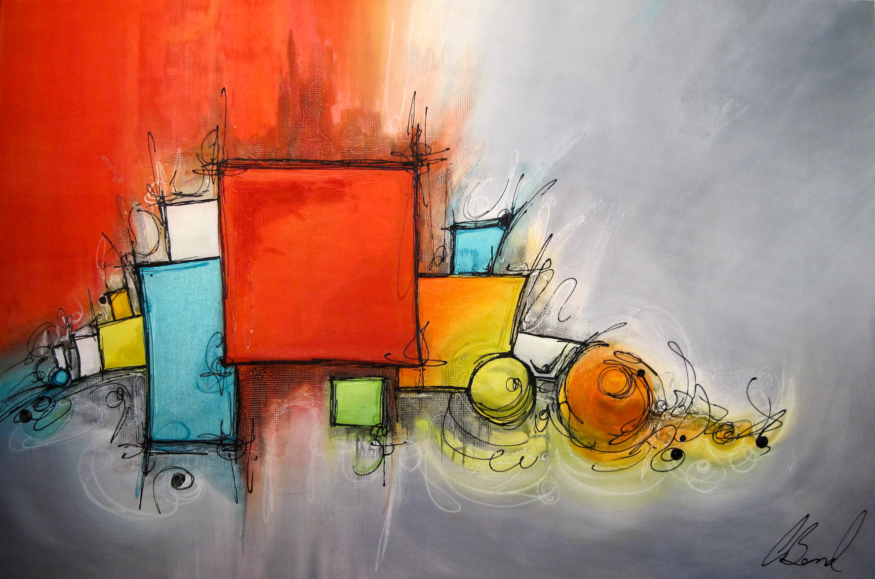 Peinture moderne d 39 art abstrait peinture moderne d 39 art for Art moderne peinture