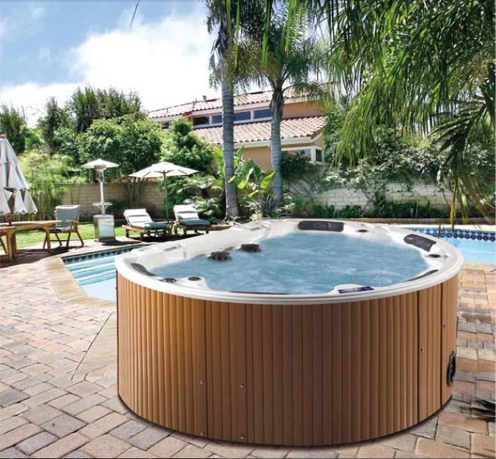 baignoire extrieure ronde de massage de tourbillon de jacuzzi de station thermale de jardin dueuope juno
