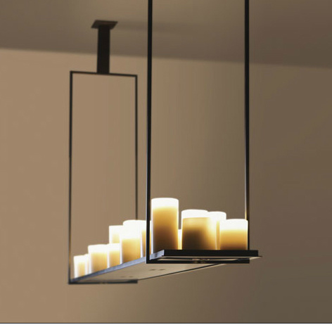 lampe mit kerzen glas pendelleuchte modern. Black Bedroom Furniture Sets. Home Design Ideas
