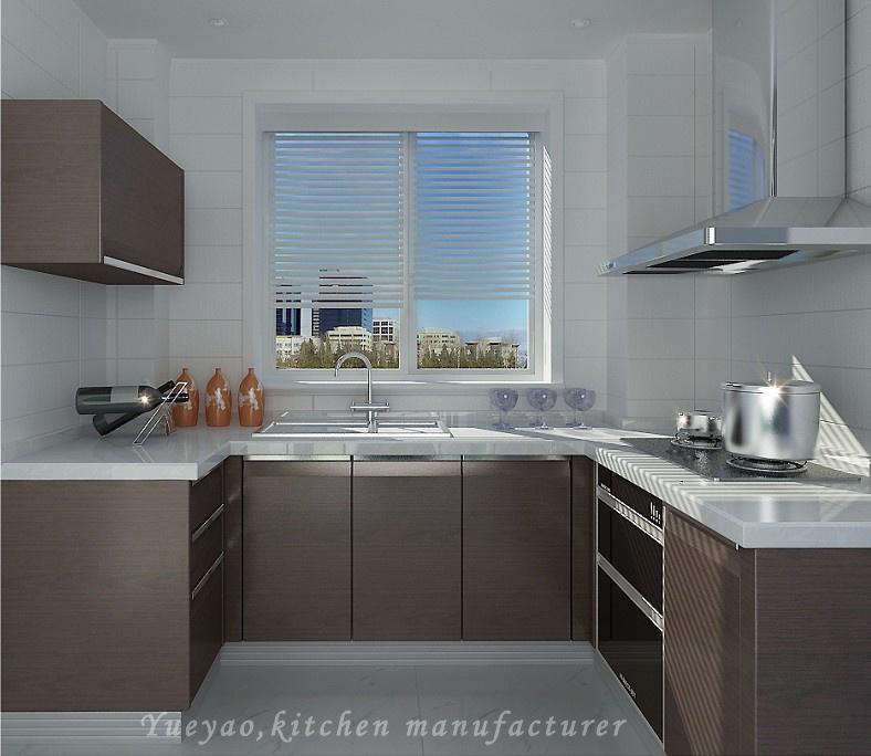Moderne Keukens U Vorm : Mfc van de vorm het moderne keukenkast ...
