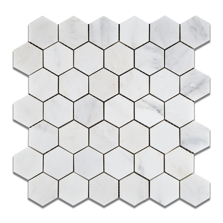 foto de azulejo de m rmol blanco del mosaico hexagonal del