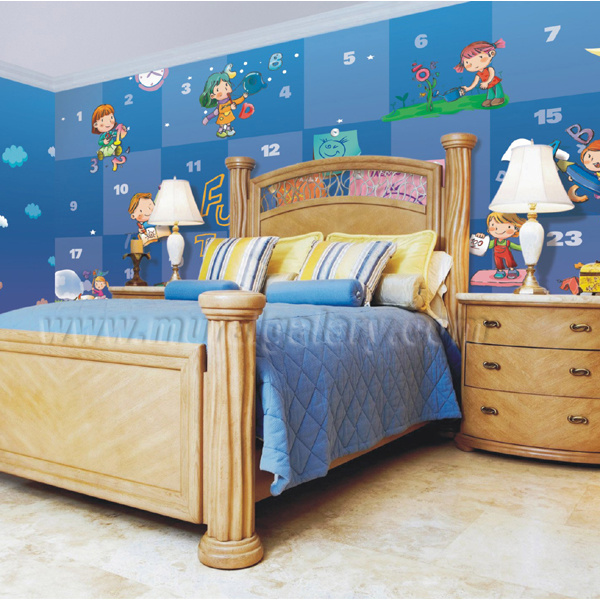 L2 00025 het kleurrijke document van de muurschildering van de muur voor de zaal van jonge - Room muur van de baby ...
