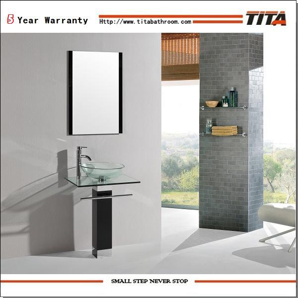 Foto de moderno lavabo de vidrio transparente tb017 en es made in - Lavabo de vidrio ...