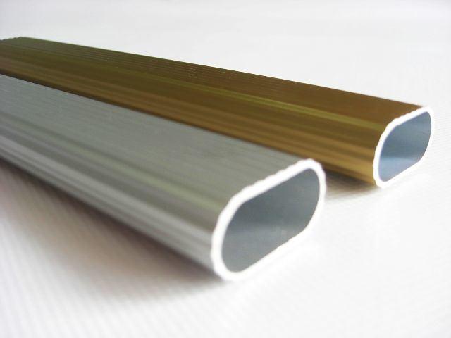 Tubo oval de aluminio anodizado st 08 tubo oval de - Tubo de aluminio ...