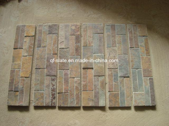 Mattonelle di pietra smussate della parete rustica for Mattonelle per pareti