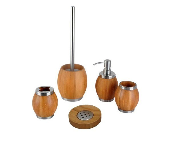 Set De Baño Bambu Dupree:Cuarto de baño de bambú fijado (JD-BR010) – Cuarto de baño de