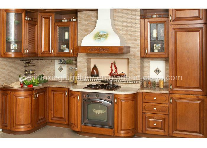 Gabinete de cocina de madera s lida 011 gabinete de for Gabinetes de madera para cocina