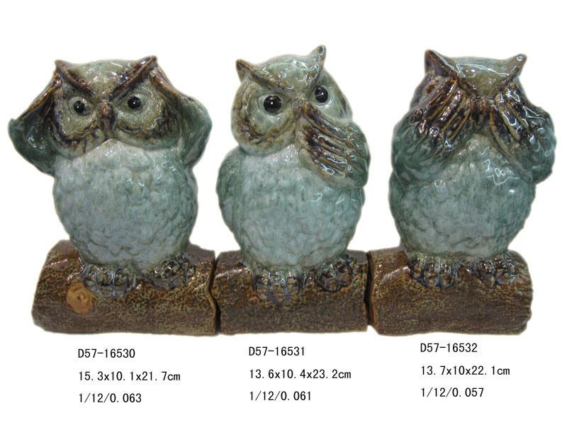 Gufo di ceramica per la decorazione del giardino gufo di for Decorazione giardino per battesimo