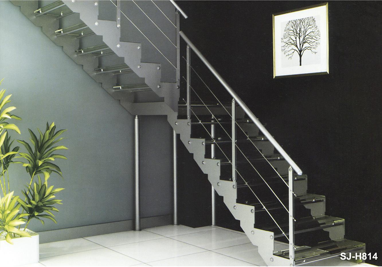 modern interior de metal laminado de vidrio escaleras hierro escaleras para casa residencial