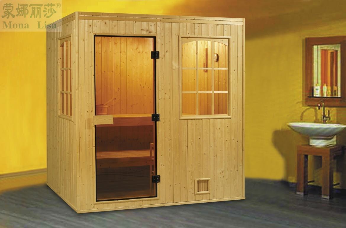 Sauna de luxe en bois de c dre rouge de monalisa finlande for Prix du cedre rouge