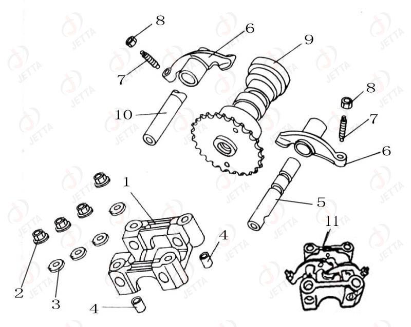 piezas del motor  diagrama