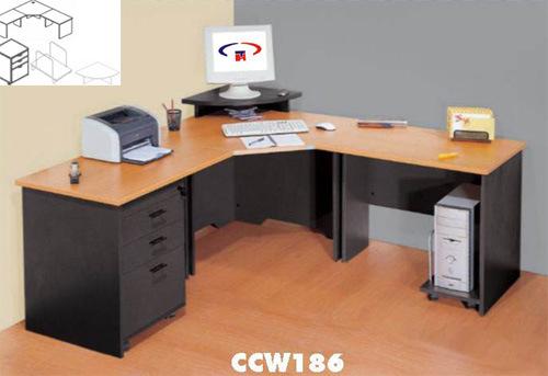 Escritorio Vector De La Oficina Muebles De La Esquina De