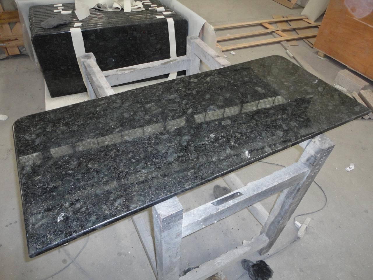 #7B5D43 Bancada azul da cozinha do granito –Bancada azul da cozinha do  1280x960 px Bancada De Granito Para Cozinha Americana Preço #1407 imagens