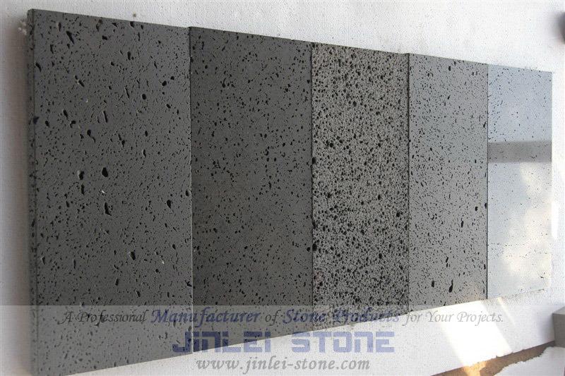 Tuiles de pavage en pierre rectifi es de lave pav en for Carrelage en pierre de lave