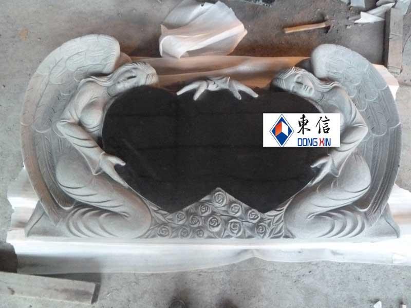 Het ontwerp van de grafsteen van het hart van de engel dx for Door het hart van china