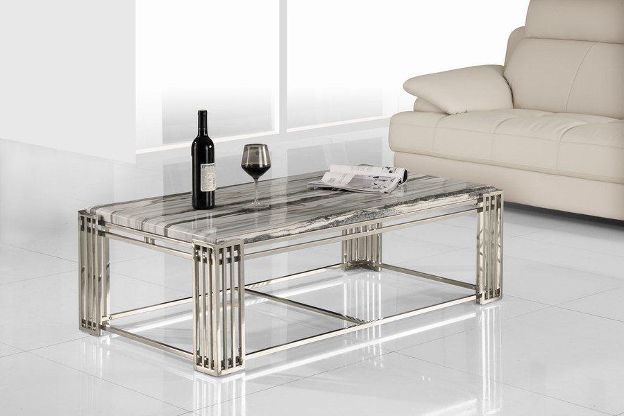 Mesa de centro de cristal del acero inoxidable ctm 701 - Mesas de cristal y acero ...
