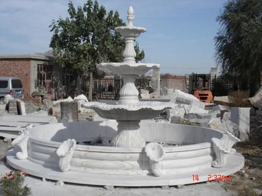 De witte marmeren fontein van hunan voor de decoratie van de tuin de witte marmeren fontein - Decoratie van de villas ...