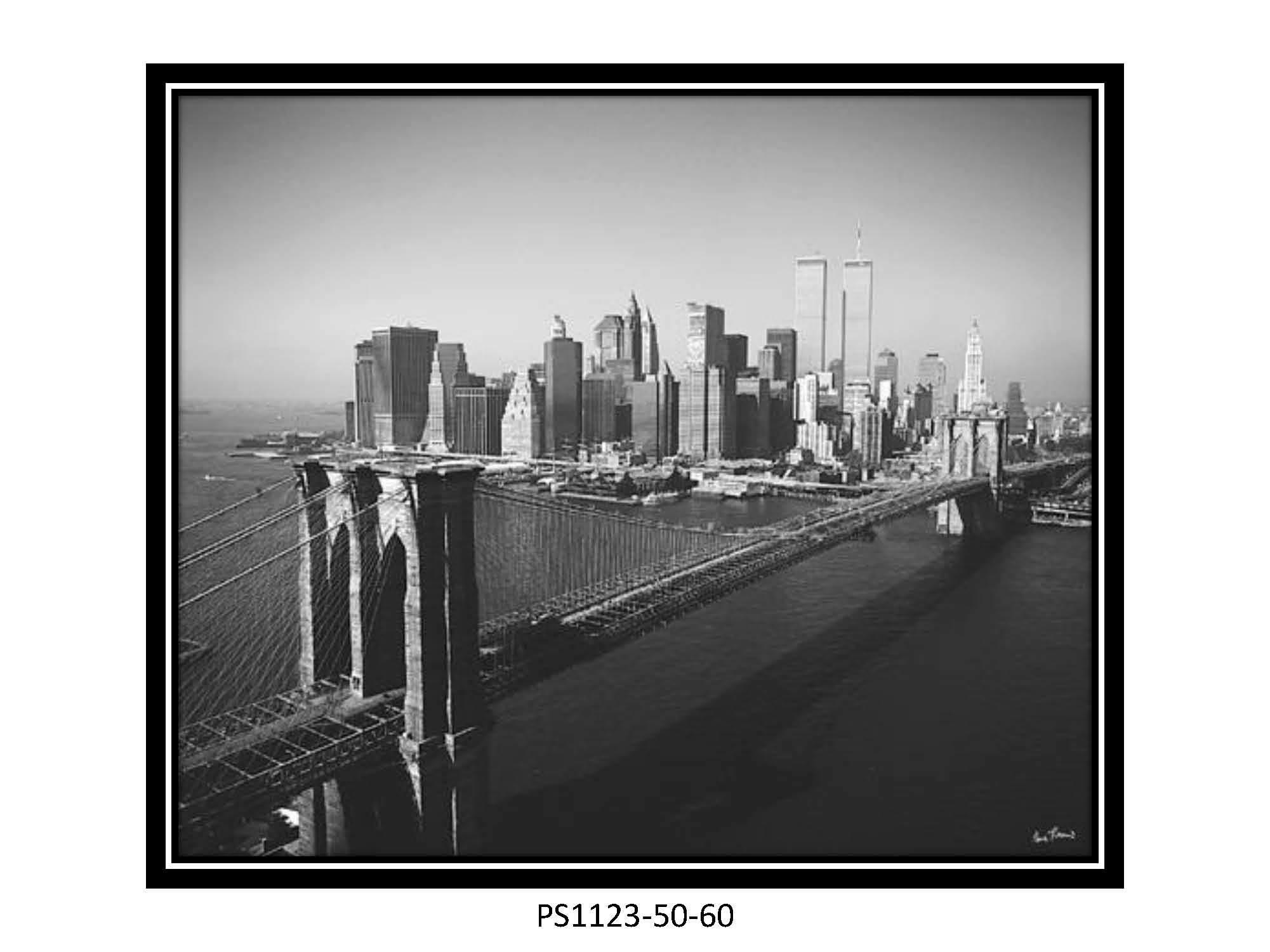 Pont de brooklyn de cadre de tableau d 39 art de mur pont de for Image de cadre de tableau