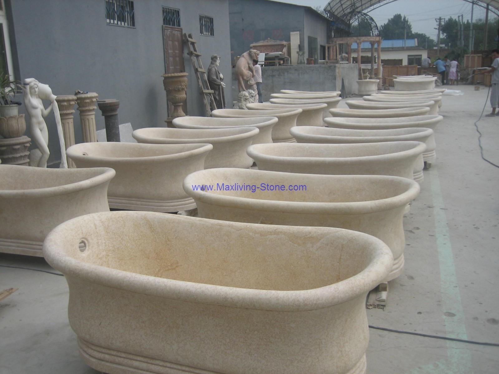 Marmo crema vasca di bagno marmo crema vasca di - Bagno di marmo ...