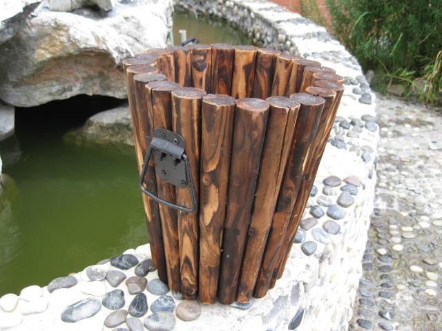 Pot de fleur extérieur en bois (GLF205) –Pot de fleur