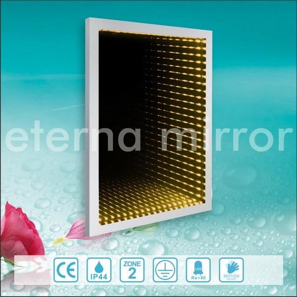 3d miroir d 39 infini de l 39 effet encadr par aluminium led for Miroir infini led