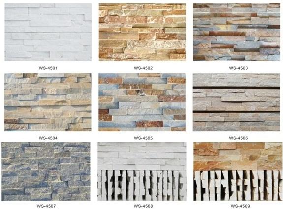 Piedra cultural de la fachada de la pizarra natural - Tipos de piedras para fachadas ...