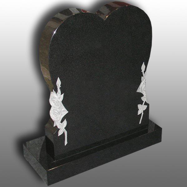 pierre tombale simple de coeur de granit noir bf 0625 04 pierre tombale simple de coeur de. Black Bedroom Furniture Sets. Home Design Ideas