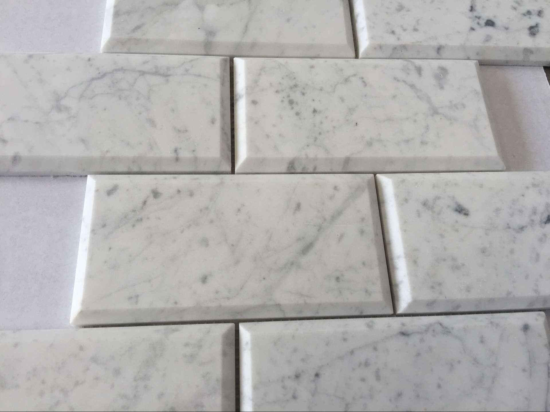 Foto de carrera azulejo de mosaico biselado profundo del for Azulejo blanco biselado