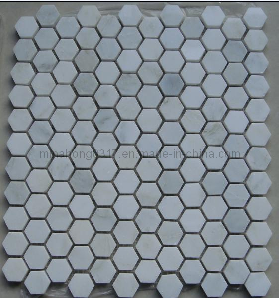 Witte Marmeren Tegels van het Mozaïek voor Badkamers en Keuken ...