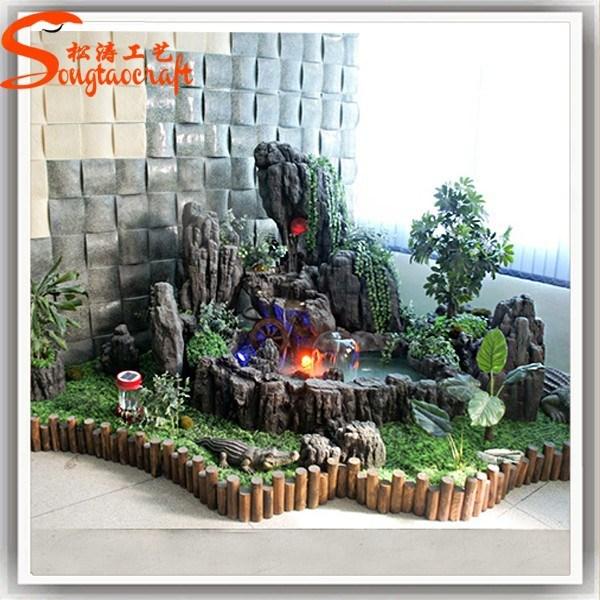 mini jardim de parede:Rock Waterfall Indoor Fountain