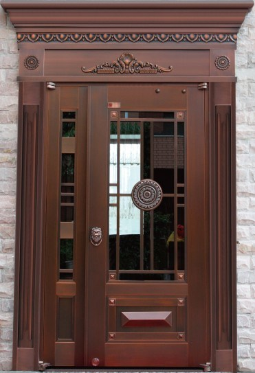2013 puertas exteriores verdaderas de winitoor del cobre for Puertas de metal para exterior