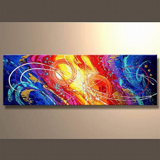 Pinturas de lona abstractos para la sala pinturas de for Fotos de cuadros abstractos al oleo
