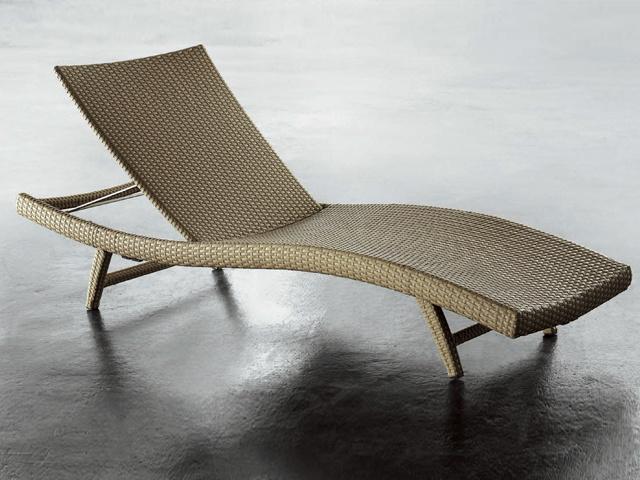 Cama de mimbre al aire libre del ocioso muebles de mimbre for Muebles jardin mimbre