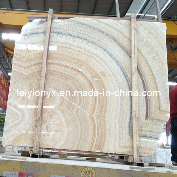 Losas chinas de la piedra del m rmol de onyx del arco iris for Densidad del marmol