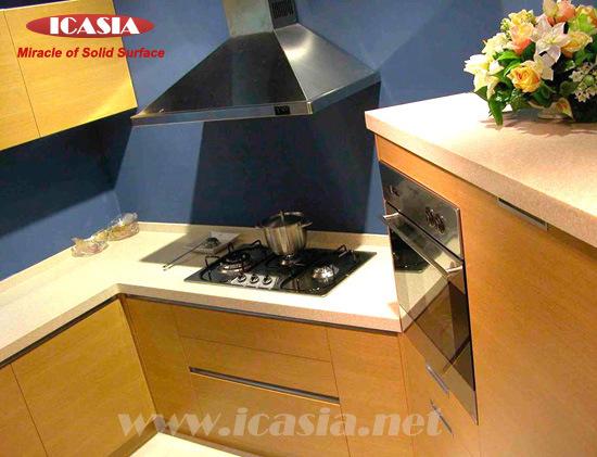 Encimera caliente de la cocina de corian material for Material encimera cocina