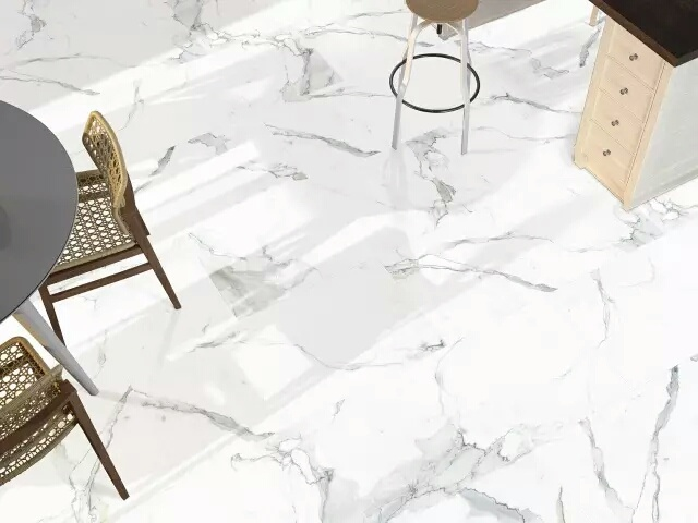 Marble looking ceramic tile
