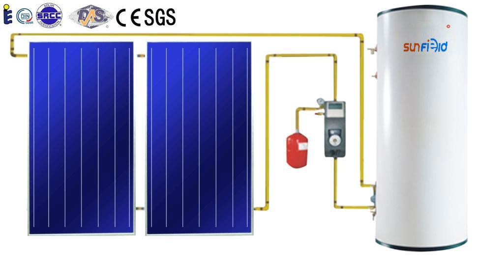 Chauffe eau thermique solaire de balcon ou de toit inclin for Plaques solars termiques