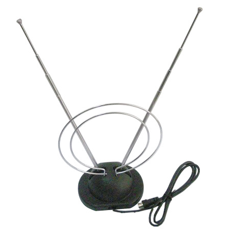 Antenne d 39 int rieur de l 39 antenne tv de lapin antenne d for Antenne hertzienne interieur