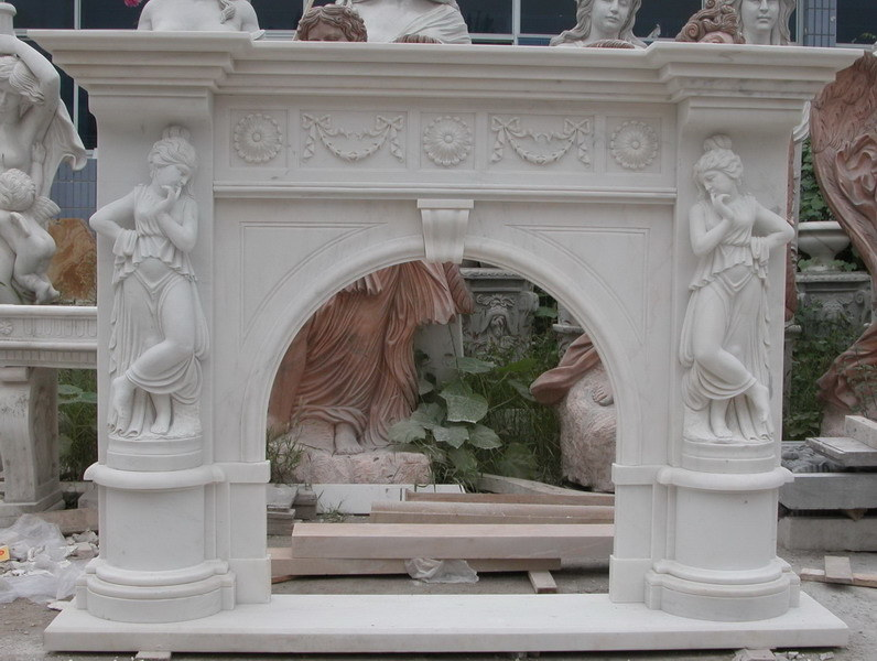 Chimeneas de m rmol estatua tallada de la persona de las for Marmol informacion