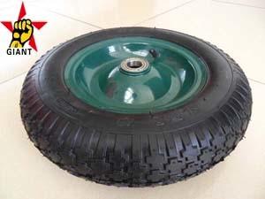 roue en caoutchouc pneumatique de brouette de roue. Black Bedroom Furniture Sets. Home Design Ideas