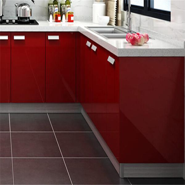 Foto de dise o rojo de 2015 dise os modernos de la cocina Diseno de gabinetes de cocina modernos