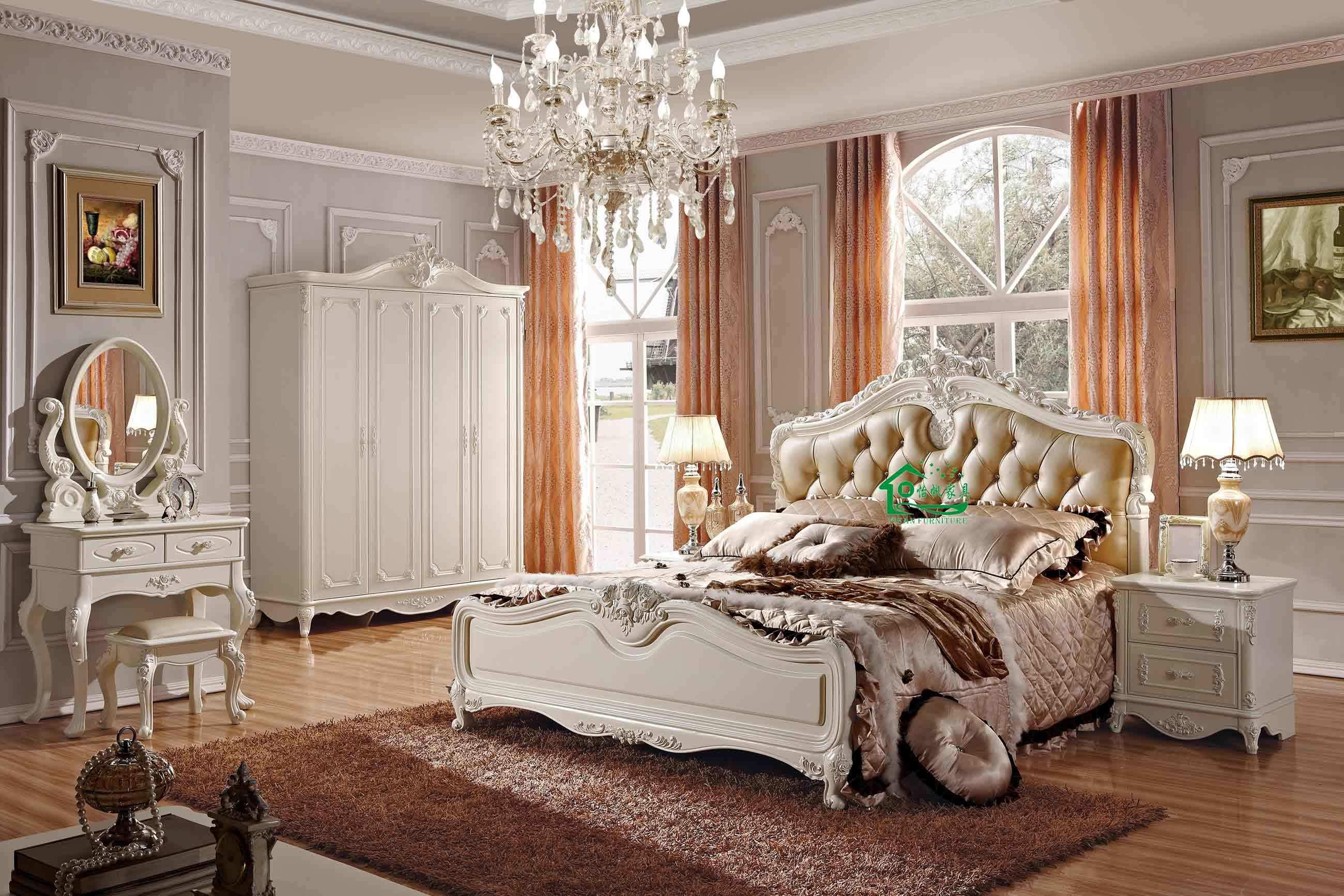Meubles en bois de chambre coucher yf 9805 meubles en for Commande chambre a coucher