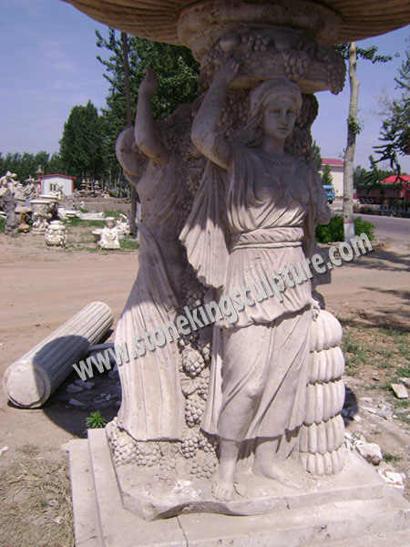 Foto de fuente de m rmol tallado de piedra y fuente - Fuentes de marmol para jardin ...