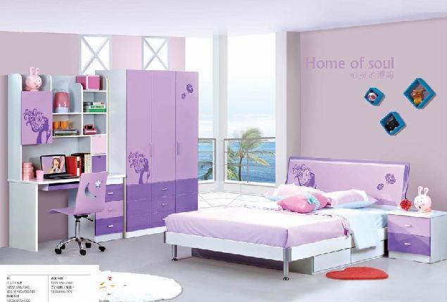 Meubles de chambre coucher d 39 enfants jqx 8100 for Chambre a coucher enfant