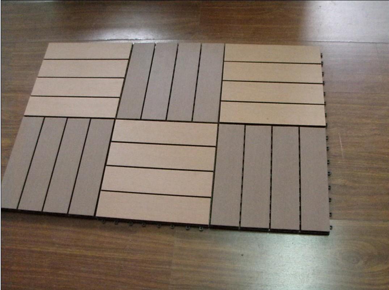 Revestimento plástico de madeira de Outfoor do Decking do composto  #604938 1075x801