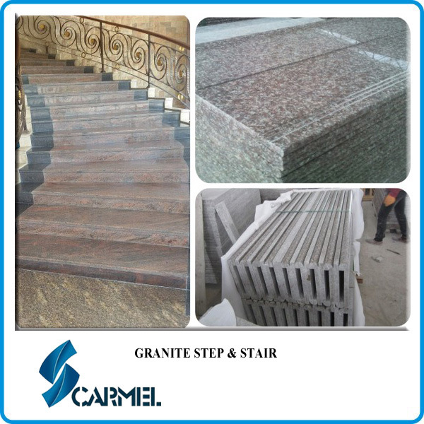 G664 rouge granit escalier verser ext rieur int rieur for Escalier exterieur granit